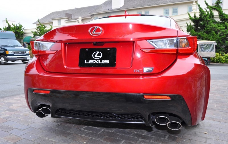 2015 Lexus RC-F in Red at Pebble Beach 120