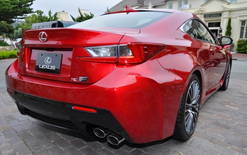 2015 Lexus RC-F in Red at Pebble Beach 122