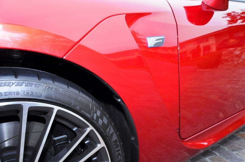 2015 Lexus RC-F in Red at Pebble Beach 124