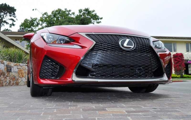 2015 Lexus RC-F in Red at Pebble Beach 128