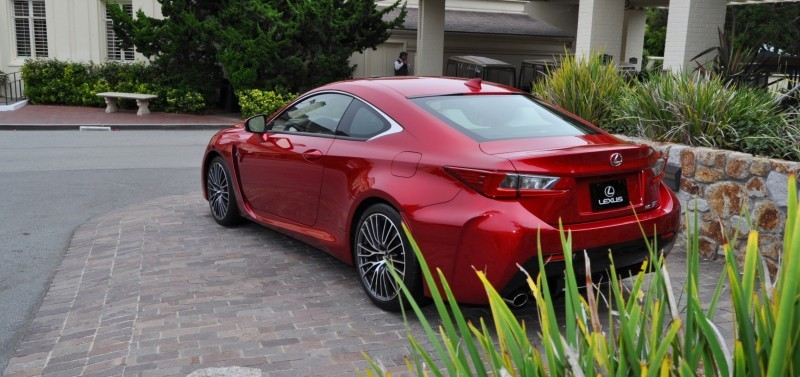 2015 Lexus RC-F in Red at Pebble Beach 31
