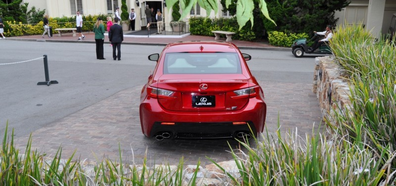 2015 Lexus RC-F in Red at Pebble Beach 42