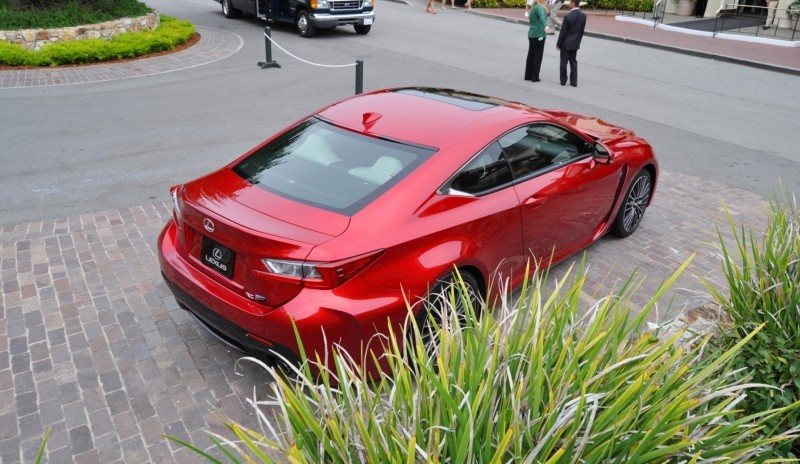 2015 Lexus RC-F in Red at Pebble Beach 49