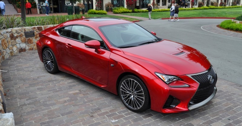 2015 Lexus RC-F in Red at Pebble Beach 63