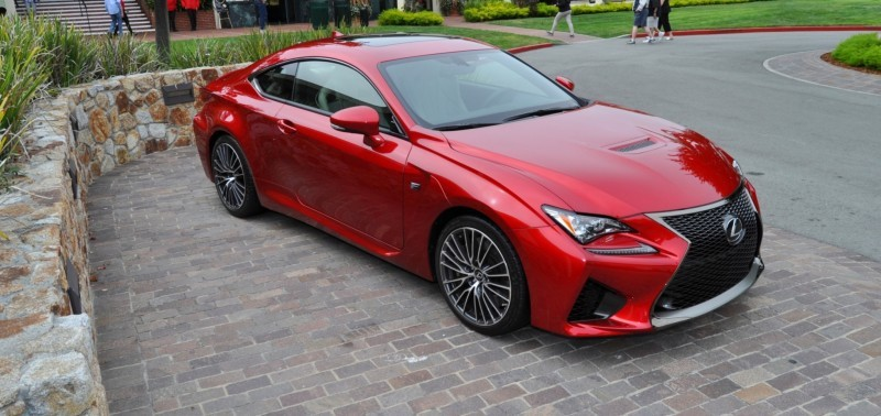2015 Lexus RC-F in Red at Pebble Beach 64