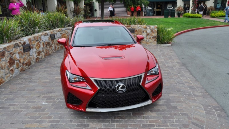 2015 Lexus RC-F in Red at Pebble Beach 73