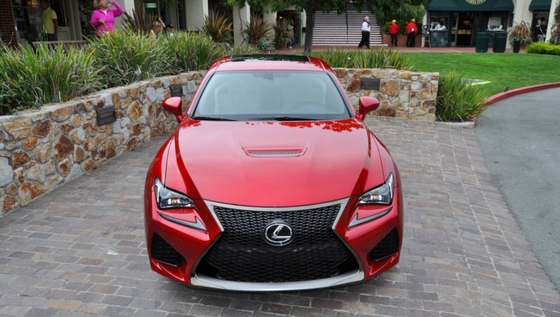 2015 Lexus RC-F in Red at Pebble Beach 75