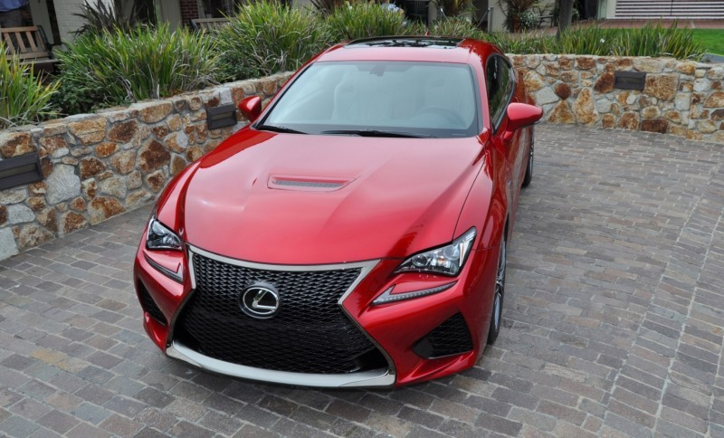 2015 Lexus RC-F in Red at Pebble Beach 80