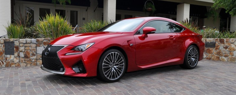 2015 Lexus RC-F in Red at Pebble Beach 8