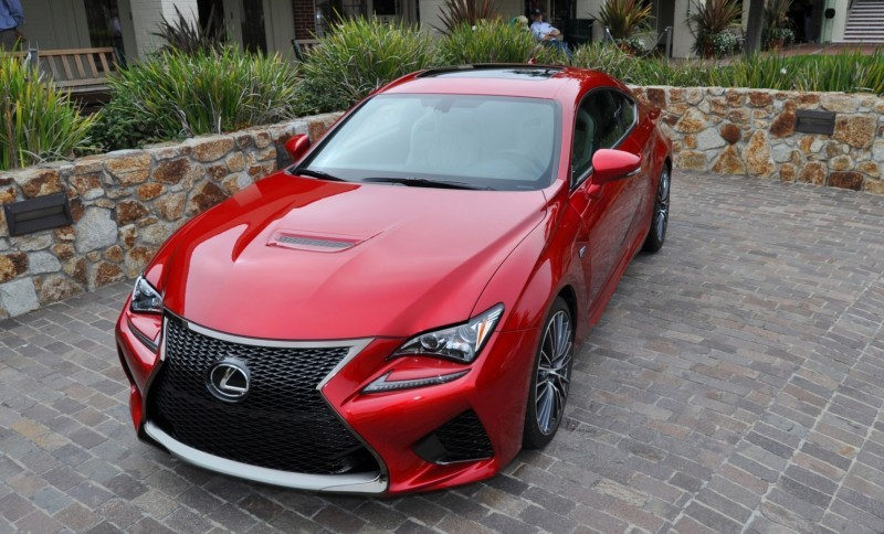 2015 Lexus RC-F in Red at Pebble Beach 82
