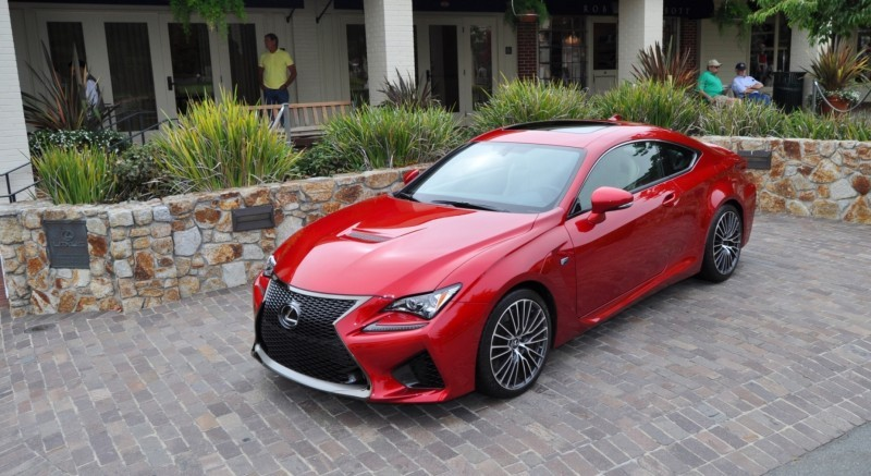 2015 Lexus RC-F in Red at Pebble Beach 84