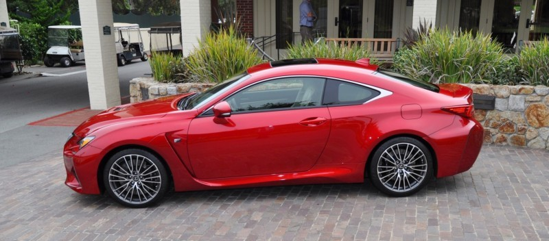 2015 Lexus RC-F in Red at Pebble Beach 99