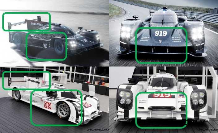 2015 vs 2014 Porsche 919 Hybrid - LMP1 Racers Compared 16