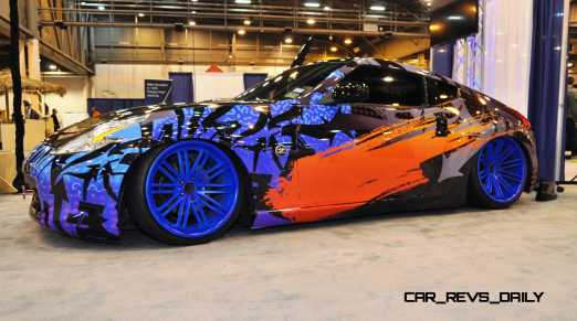 Hand-Airbrushed Nissan 370Z LowRider 7