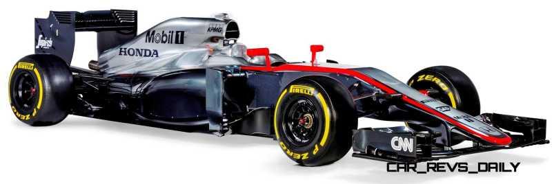 2015 F1 Cars Comparo - Infiniti RB11 vs McLaren-Honda MP4-30 vs AMG W06 vs Ferrari SF15T 25