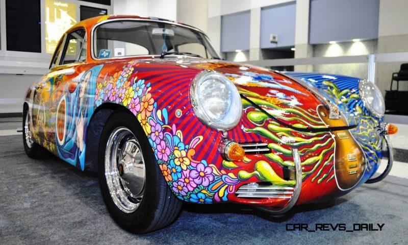 Houston Auto Show Curio - Porsche 356 Art Car Is Janis Joplin Homage 5