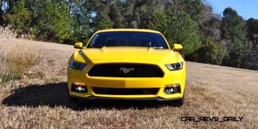 2015 Ford Mustang EcoBoost in Triple Yellow 142