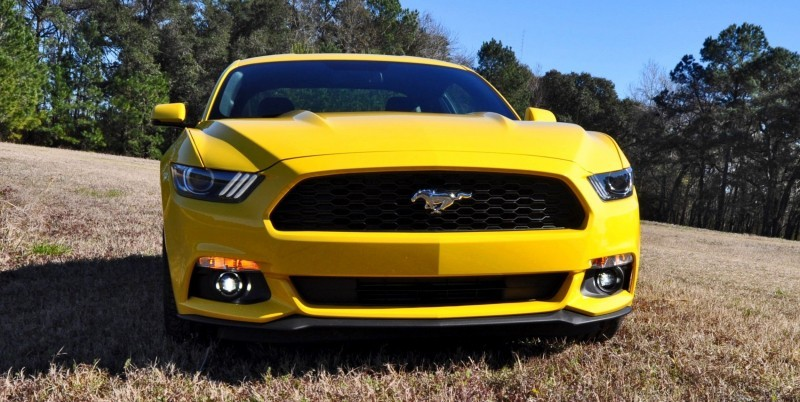 2015 Ford Mustang EcoBoost in Triple Yellow 145