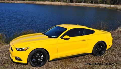 2015 Ford Mustang EcoBoost in Triple Yellow 148