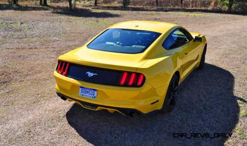 2015 Ford Mustang EcoBoost in Triple Yellow 37