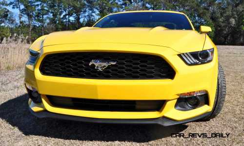 2015 Ford Mustang EcoBoost in Triple Yellow 48