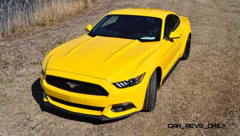 2015 Ford Mustang EcoBoost in Triple Yellow 56