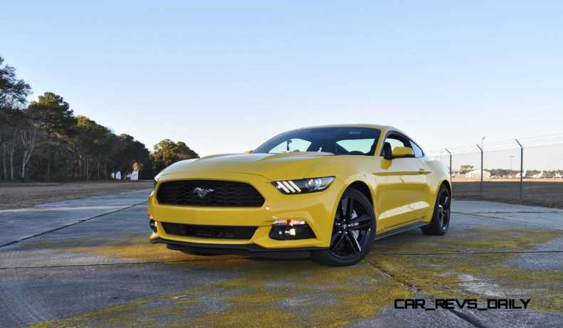 HD Road Test Review - 2015 Ford Mustang EcoBoost in Triple Yellow with Performance Pack 108