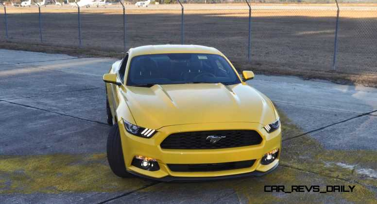 HD Road Test Review - 2015 Ford Mustang EcoBoost in Triple Yellow with Performance Pack 164