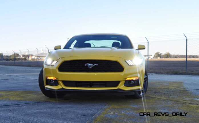 HD Road Test Review - 2015 Ford Mustang EcoBoost in Triple Yellow with Performance Pack 175