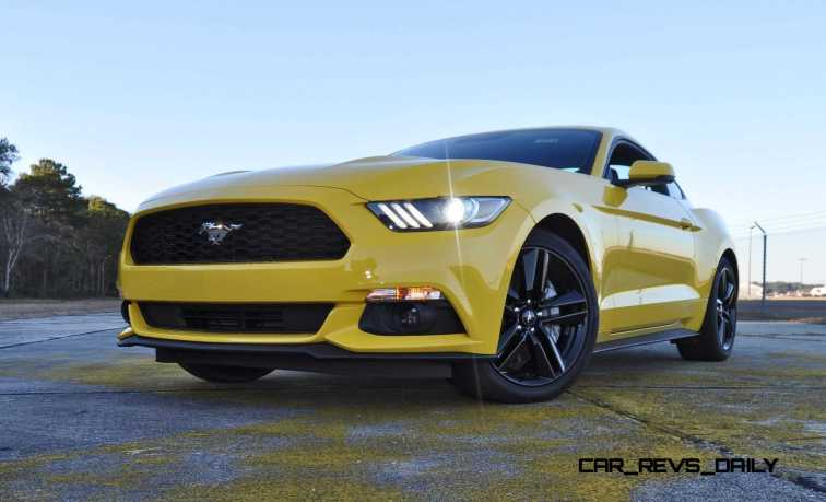 HD Road Test Review - 2015 Ford Mustang EcoBoost in Triple Yellow with Performance Pack 180
