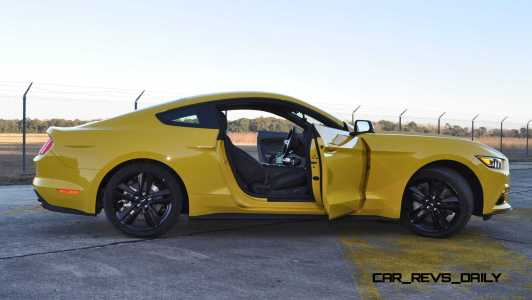 HD Road Test Review - 2015 Ford Mustang EcoBoost in Triple Yellow with Performance Pack 198