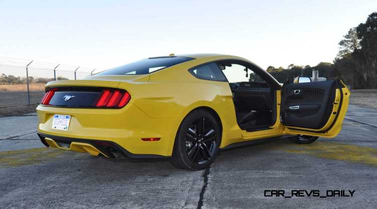 HD Road Test Review - 2015 Ford Mustang EcoBoost in Triple Yellow with Performance Pack 205