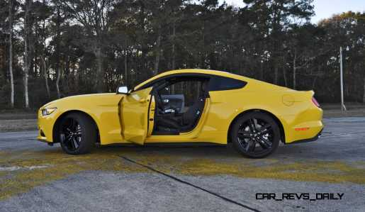 HD Road Test Review - 2015 Ford Mustang EcoBoost in Triple Yellow with Performance Pack 215