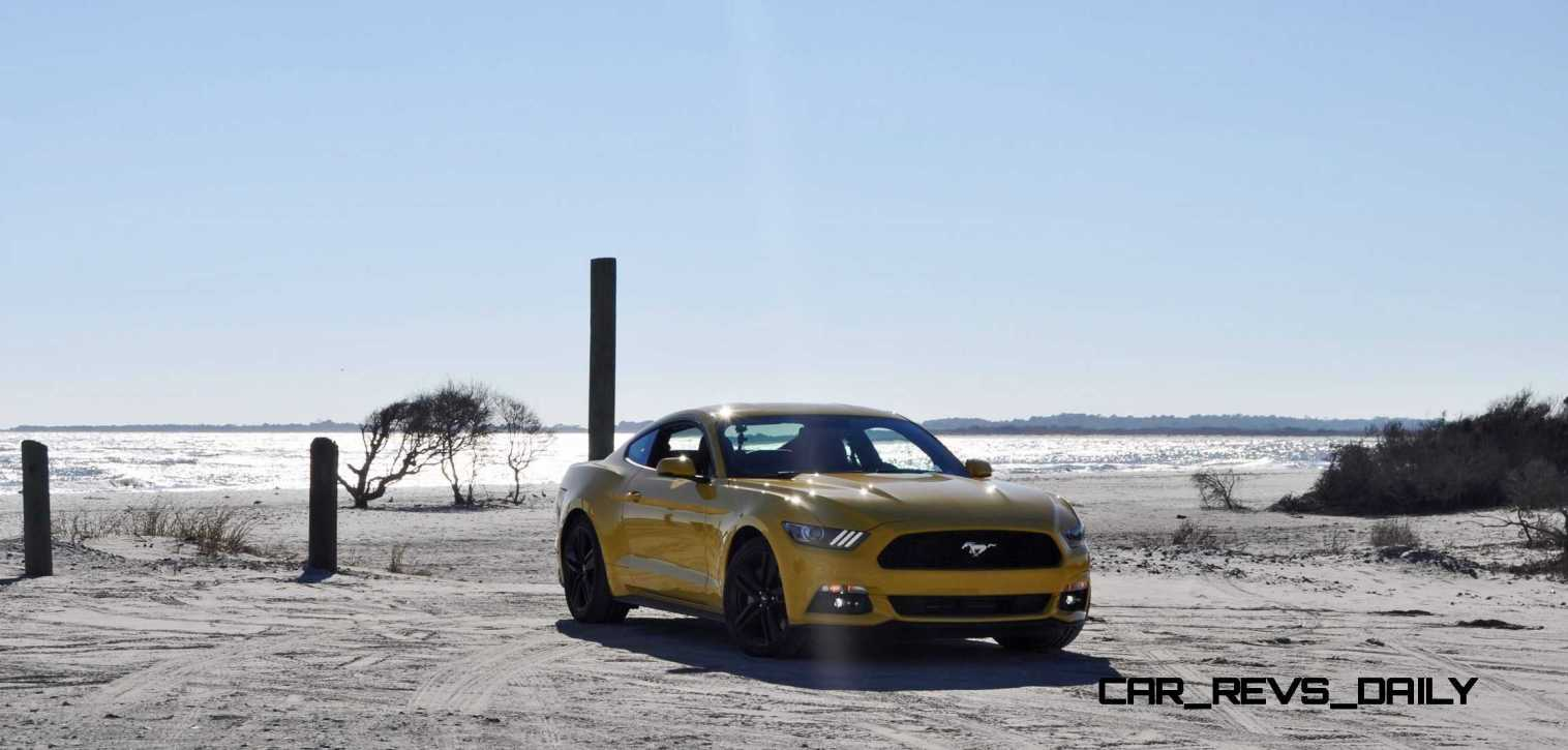 HD Road Test Review - 2015 Ford Mustang EcoBoost in Triple Yellow with Performance Pack 49