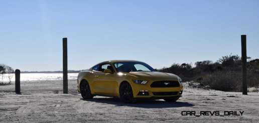 HD Road Test Review - 2015 Ford Mustang EcoBoost in Triple Yellow with Performance Pack 53