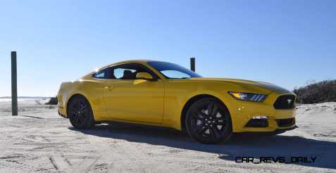 HD Road Test Review - 2015 Ford Mustang EcoBoost in Triple Yellow with Performance Pack 58