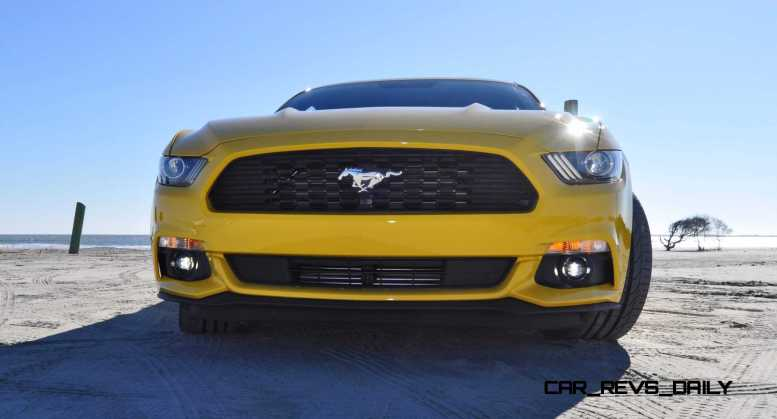 HD Road Test Review - 2015 Ford Mustang EcoBoost in Triple Yellow with Performance Pack 69