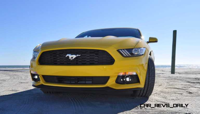 HD Road Test Review - 2015 Ford Mustang EcoBoost in Triple Yellow with Performance Pack 71