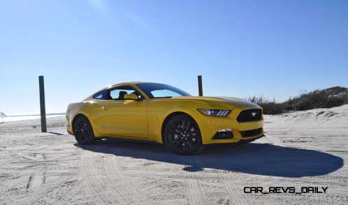 HD Road Test Review - 2015 Ford Mustang EcoBoost in Triple Yellow with Performance Pack 75