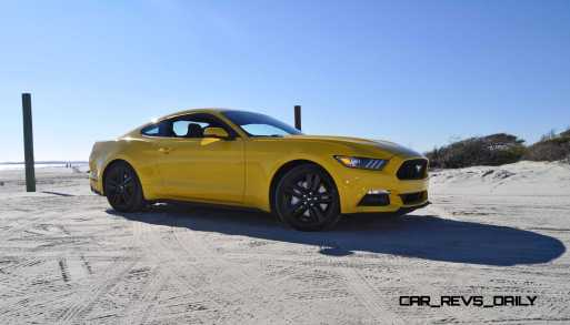 HD Road Test Review - 2015 Ford Mustang EcoBoost in Triple Yellow with Performance Pack 77