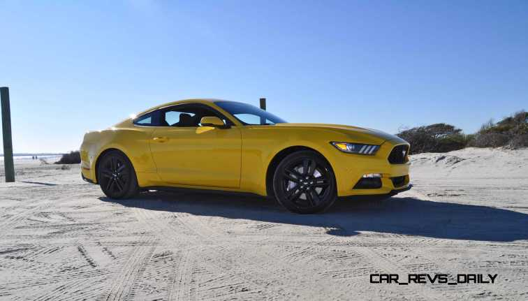 HD Road Test Review - 2015 Ford Mustang EcoBoost in Triple Yellow with Performance Pack 78