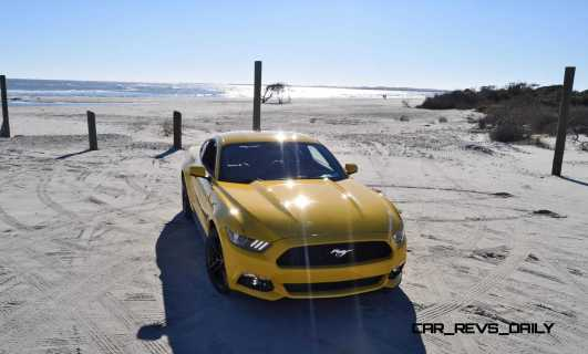 HD Road Test Review - 2015 Ford Mustang EcoBoost in Triple Yellow with Performance Pack 93