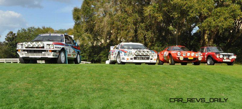 LANCIA Rally Reunion - Stratos, Integrale, Fulvia and 037 Together for Amelia 2015 16