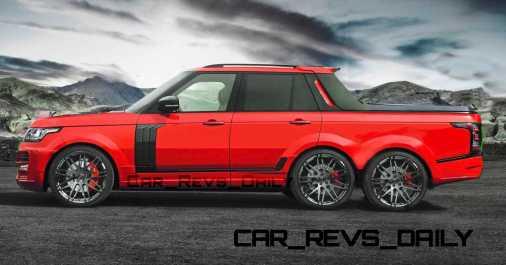 Digital Renderings - StarTech Range Rover 6x6 Long-Box Pickup Truck - 2 Angles + 30 Colors 15 copy