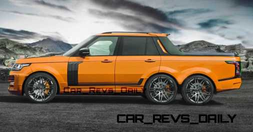 Digital Renderings - StarTech Range Rover 6x6 Long-Box Pickup Truck - 2 Angles + 30 Colors 16 copy