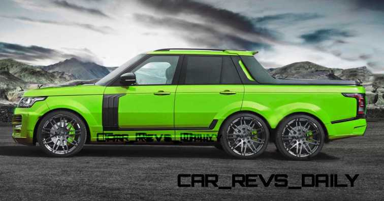 Digital Renderings - StarTech Range Rover 6x6 Long-Box Pickup Truck - 2 Angles + 30 Colors 17 copy