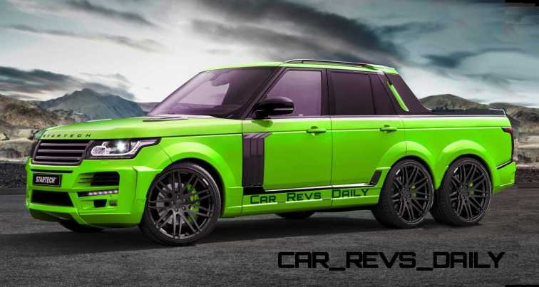 Digital Renderings - StarTech Range Rover 6x6 Long-Box Pickup Truck - 2 Angles + 30 Colors 22