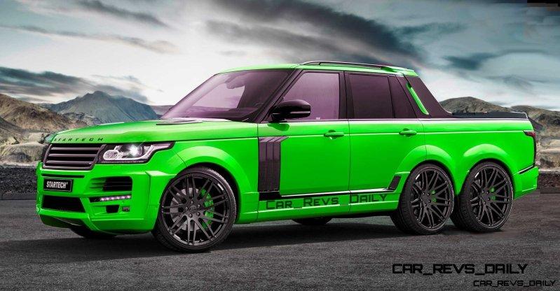 Digital Renderings - StarTech Range Rover 6x6 Long-Box Pickup Truck - 2 Angles + 30 Colors 25