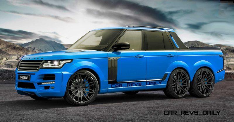 Digital Renderings - StarTech Range Rover 6x6 Long-Box Pickup Truck - 2 Angles + 30 Colors 26