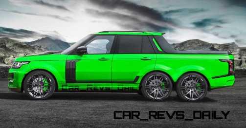 Digital Renderings - StarTech Range Rover 6x6 Long-Box Pickup Truck - 2 Angles + 30 Colors 7 copy